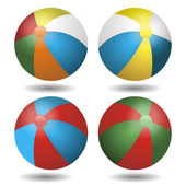 Children's ball beach multicolored — Vector de stock