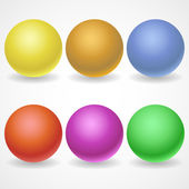 A collection of balls of different colors and lighting for your — Stock Vector