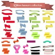 Collection of ribbons and banners — Stock Vector