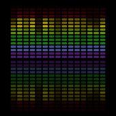 Equalizzatore musica astratta — Vettoriale Stock