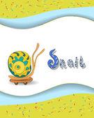 Animal alphabet letter S and snai — Vetorial Stock