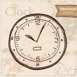 Stock Vector: Clock vector hand drawn