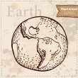 Earth. Hand drawn. Vector eps 8 — Stock Vector
