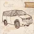 Car vector hand drawn — Image vectorielle