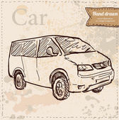Car vector hand drawn — Stockvector