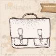 Business bag hand drawn — Stock Vector