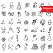 Christmas icons, sketch drawing for your design — Stock Vector