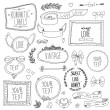 Vintage labels set, vector — Vector de stock #36111465