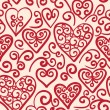 Seamless pattern with hearts — Stock Vector #36672935