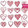 Hearts set — Image vectorielle