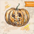 Vector illustration of halloween pumpkin — Stock Vector