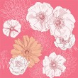 estampado de flores — Vector de stock  #36831423