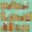 Seamless pattern of amsterdam in vector — Stock Vector