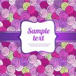 Vector invitation with colorful doodles, seamless pattern hand drawn in pink — Stock Vector