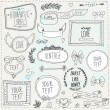 Vintage label set, Hand-drawn doodles and design elements — Stock Vector #36832913
