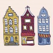 Old Holland houses set — Vettoriale Stock #36833085