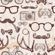 Vector hipster seamless pattern — Stock Vector #36833133