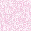 Abstract swirl seamless pattern, pink ornament — Vektorgrafik