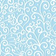 Abstract swirl seamless pattern, blue ornament, waves background. — Stock Vector