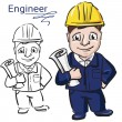 Vector illustration of a engineer — Stock Vector