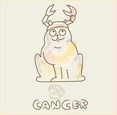Zodiac sign Cancer cat — Stock Vector