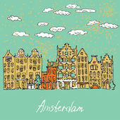 Ilustracja z Amsterdamu w wektor — Wektor stockowy