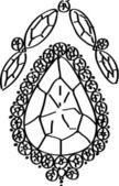 Hand drawn Gems — Vector de stock
