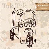 Vector representation of Tuk-Tuk in Thailand — Stock Vector