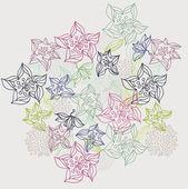 Flower doodle hand drawn — ストックベクタ
