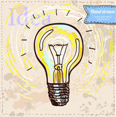 Light hand drawn in color. — Stock Vector