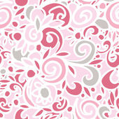 Abstract seamless pattern, vector doodle illustration hand drawn, cute pink color — Stock Vector