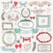 Vintage labels set, vector — Stock Vector
