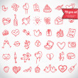 Doodle icon set isolated, — Stock Vector #37756035