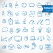 Doodle office, business icons set, vector — Stock Vector #37859639