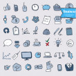 Doodle office, business icons set, vector — Stock Vector #37859701