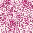 Seamless vintage inspired Rose Pattern, vector background — Stock Vector