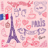 Paris. love template vector/illustration — Stock Vector