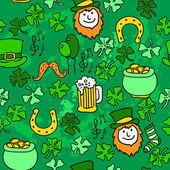 Seamless St.Patrick's day background. vector illustration — Stock Vector