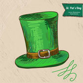 St. Patrick's Day illustration of hat — Stock Vector