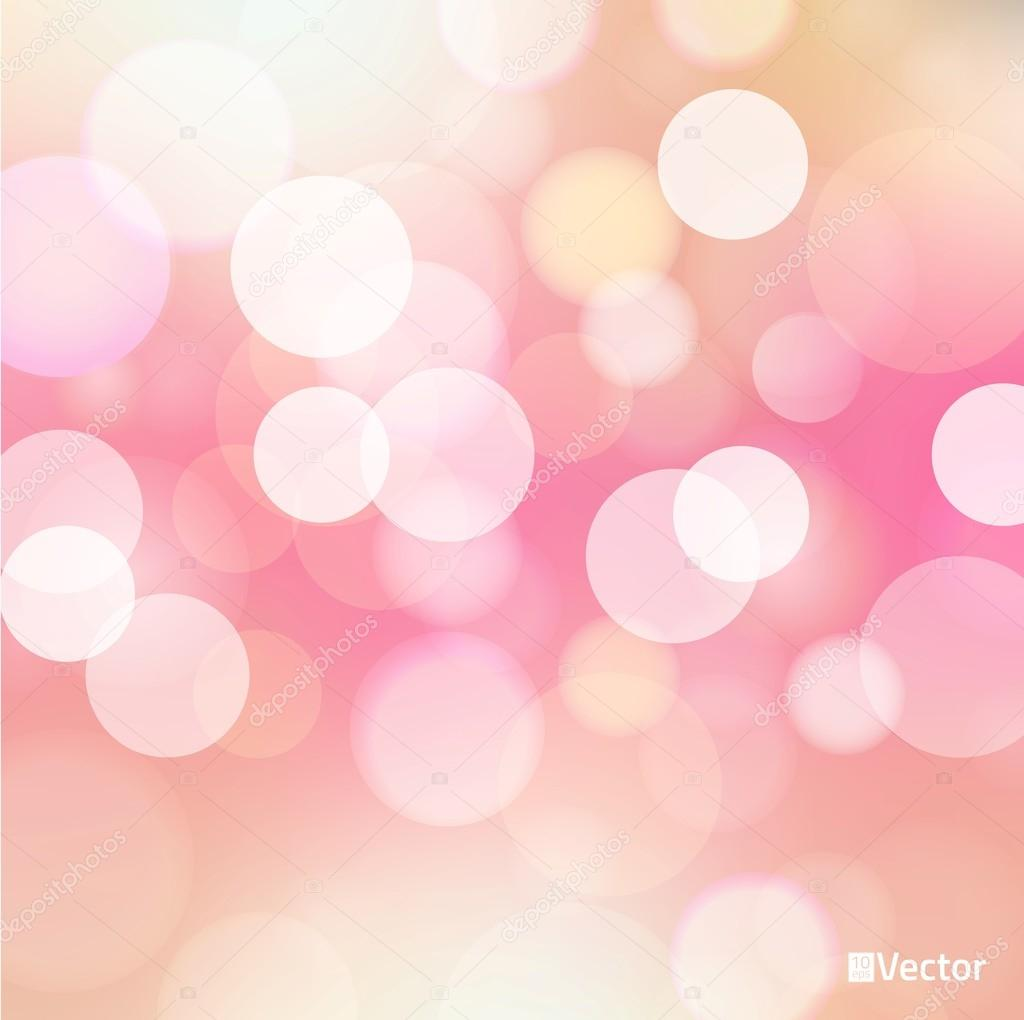 Light red Vector bokeh background made from white lights ...