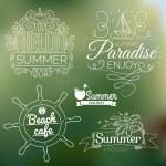 Retro elements for Summer calligraphic designs — Stock Vector #42609521