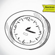 Clock timer alarm , vector illustration — Stock Vector