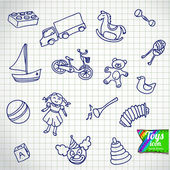 Set of different cartoon vector toys — Vecteur