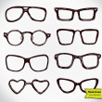 Eyeglasses isolated on white — Stock Vector #48816867