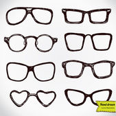 Eyeglasses isolated on white — Stock Vector