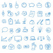 Doodle office, business icons set, — Stock Photo #51579701
