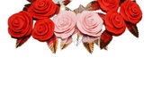 Roses Cake Decoration Frame — Stock Photo