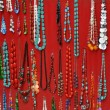 Stock Photo: Necklace retail market