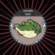 Portrait of alligator in a circle — Image vectorielle