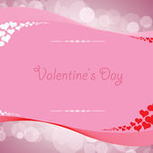 Valentine's day background with hearts — Vettoriale Stock